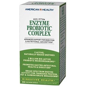American Health Dual-Action Enzyme Probiotic Complex