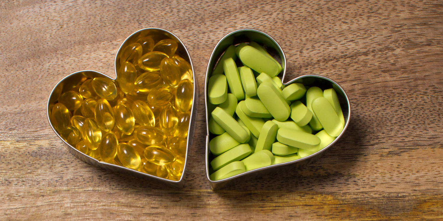 Supplements in a heart contrainer