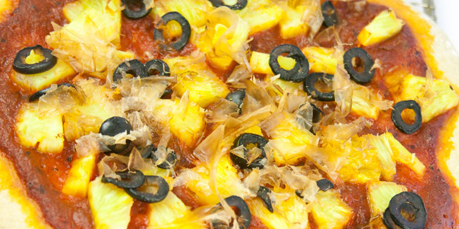Pineapple Pizza with Olives