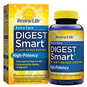Renew Life Formulas Extra Care Digest Smart Plant-Based Enzyme High-Potency